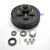 Trailer Brake Drum Hub, Fits 3,500lb Axle 5 Bolt on 4 1/2 Pattern