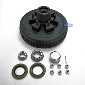 6 Bolt Trailer Brake Drum Hub Fits 6,000lb Axles