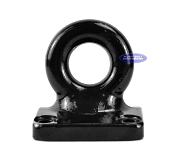 Pintle Ring, 3 in Inside Diameter, Flat 4 Hole Mount, 60,000lb Rating