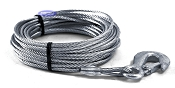 Winch Cable Galvanized 3/16 inch x 50 foot with Hook