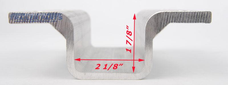 2 Inch Aluminum Boat Trailer Hat Bracket Support For 3
