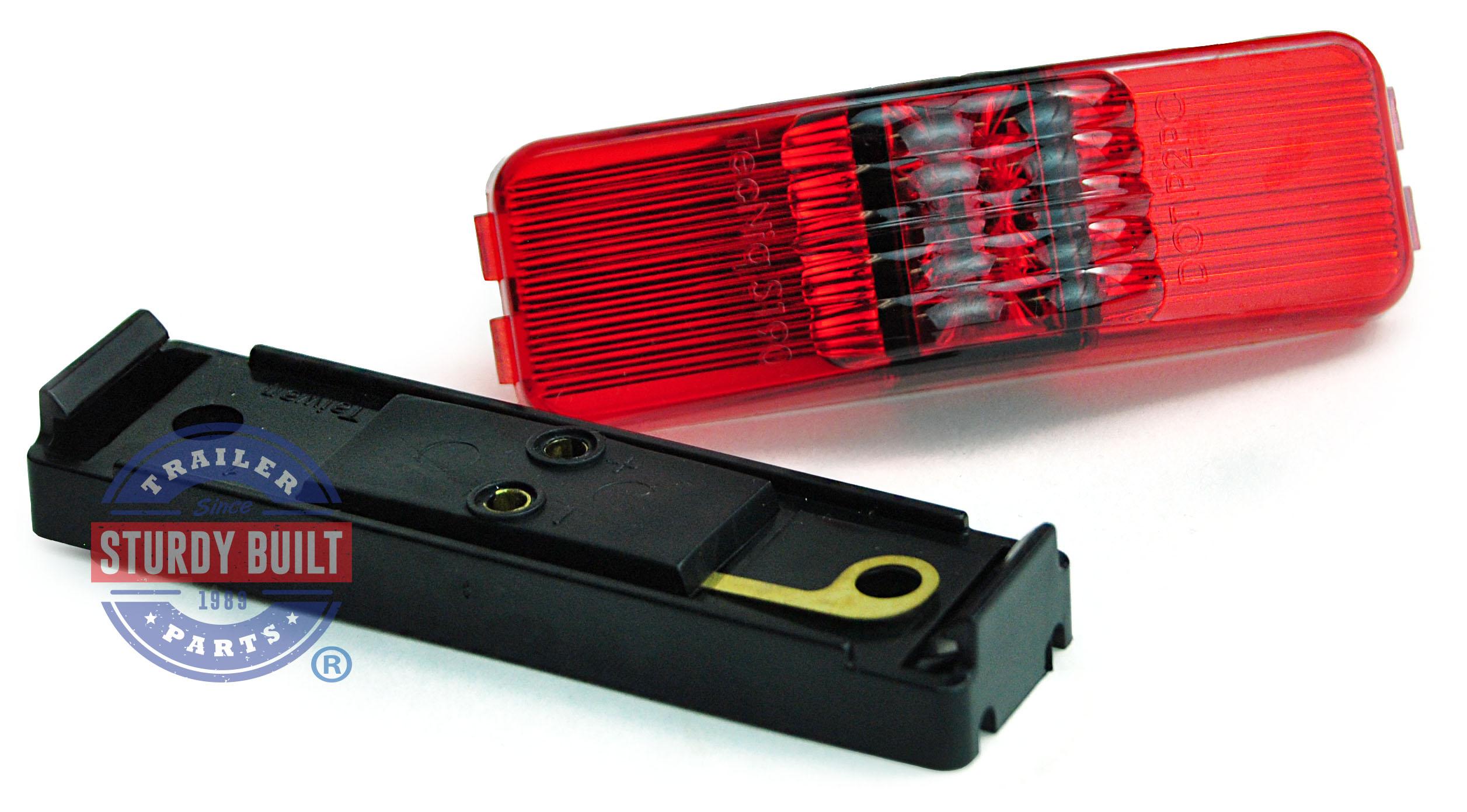 Led Sidemarker Trailer Light Kit Red Submersible 1 Inch X