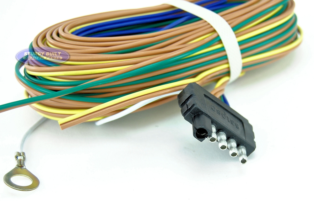 5FlatHarness SBO 2 trailer light wiring harness 5 flat 35ft to re wire trailer lights Plug in Trailer Wiring Kits at mifinder.co