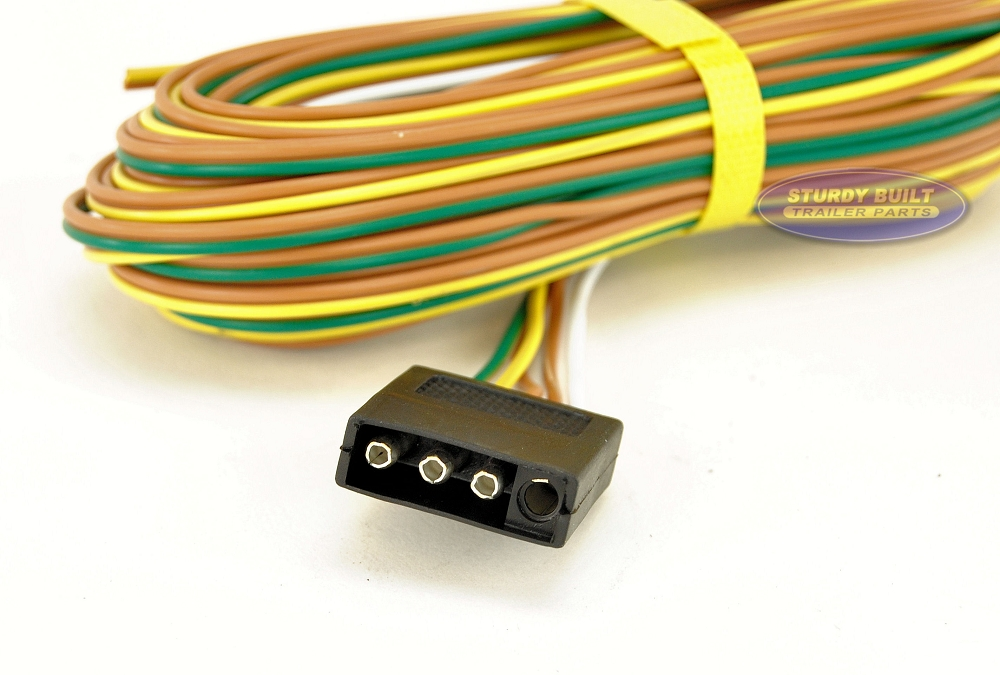 trailer light wiring harness 4 flat 35ft to re do trailer lights rh sturdybuiltonline com 4-Way Plug Wiring Harness RV Wiring Harness