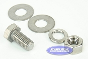 1/2 inch Diameter by 1 inch Long Stainless Steel Bolt