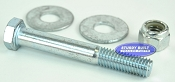 1/2 inch Diameter by 3 inch Long Zinc Plated Trailer Bolt