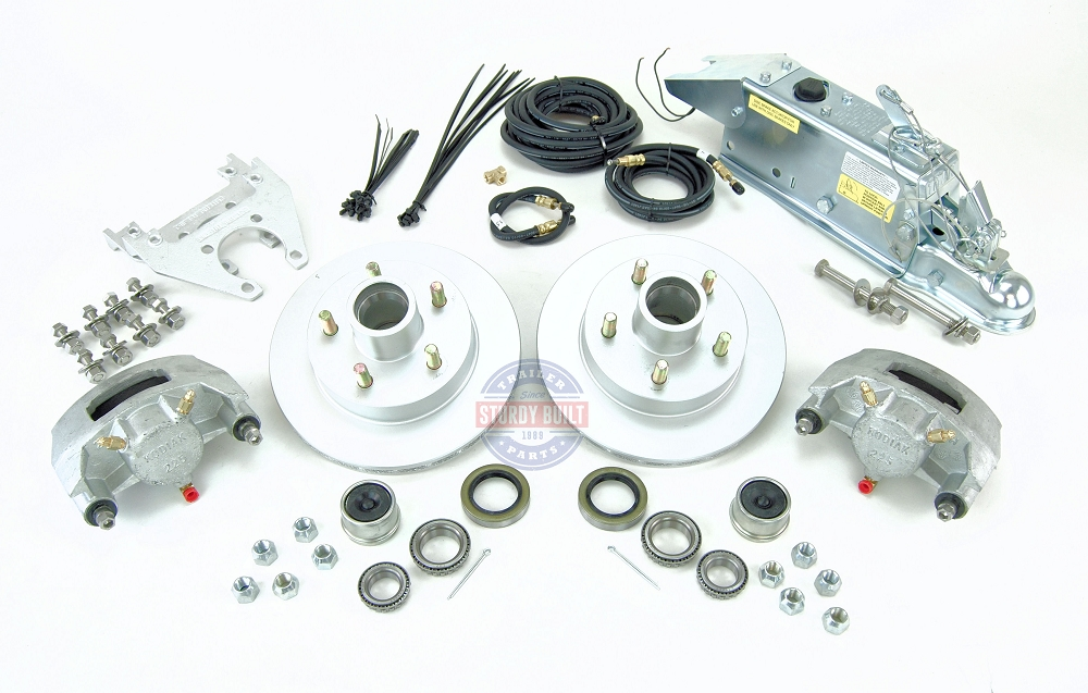 Boat Trailer Disc Brake Kit Single Axle Complete with Titan Coupler