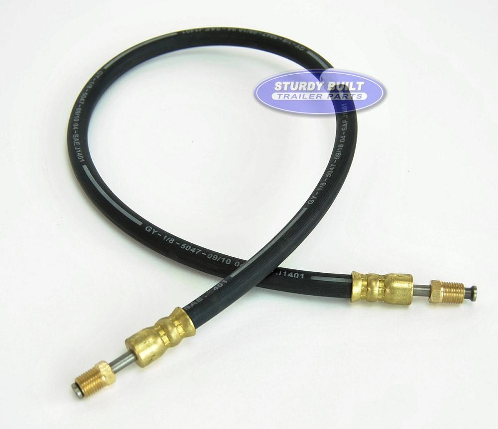 Rubber Brake Line Hose : Boat trailer rubber flexible dot brake hose in male