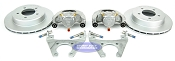Kodiak Trailer Slip-on Disc Brake Kit Dacromet / Stainless 5 Bolt
