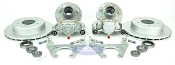 Kodiak Trailer Slip-on Disc Brake Kit w/ SS Calipers, 5 Bolt Galv Hubs