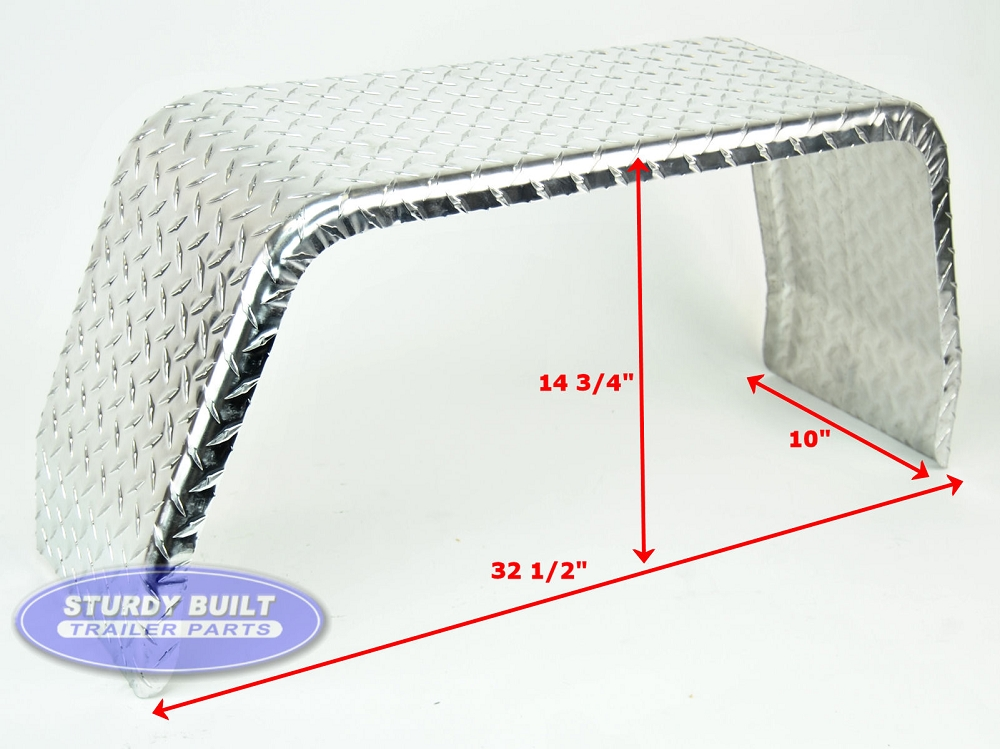 Aluminum Trailer Fenders : Aluminum diamond plate boat trailer fender single axle