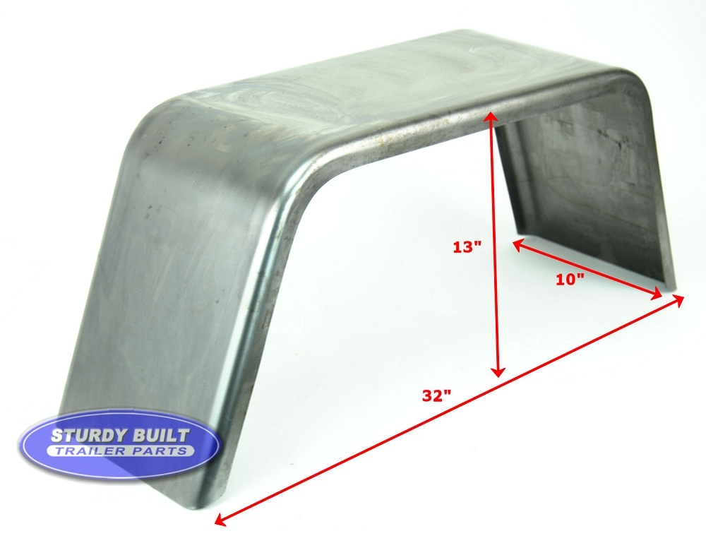 Cargo Trailer Fenders : Cold rolled steel trailer fender square single axle