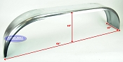 Galvanized Boat Trailer Fender Tandem Axle 10 x 64 x 16in
