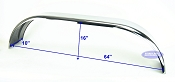 Stainless Steel Boat Trailer Fenders Tandem Axle 10 x 64 x 16 in