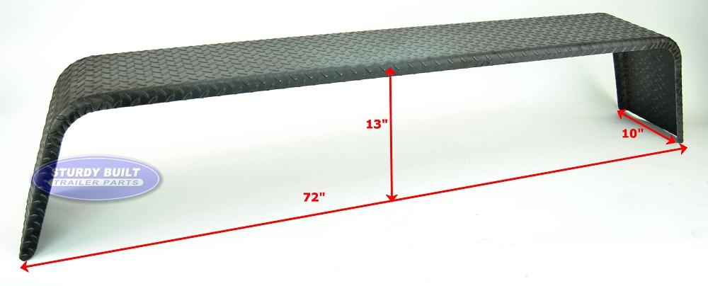 I 69 Trailer Fenders : Steel diamond plate utility trailer fender tandem axle