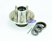 Stainless Steel 5 Lug Boat Trailer Hub with Bearings for 3500lb Axle