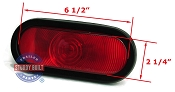 Red Incandescent Oval Replacement Trailer Light Sealed Kit