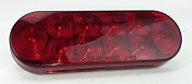 LED Red Oval Replacement Trailer Light 6