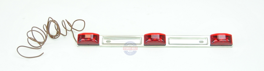 Red led id light bar submersible stainless steel backing for boat homecategoriestrailer lights aloadofball Image collections