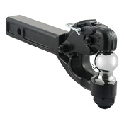 Pintle Hook Combo with 2 inch Ball 12,000lb Rating , 2x2 shank