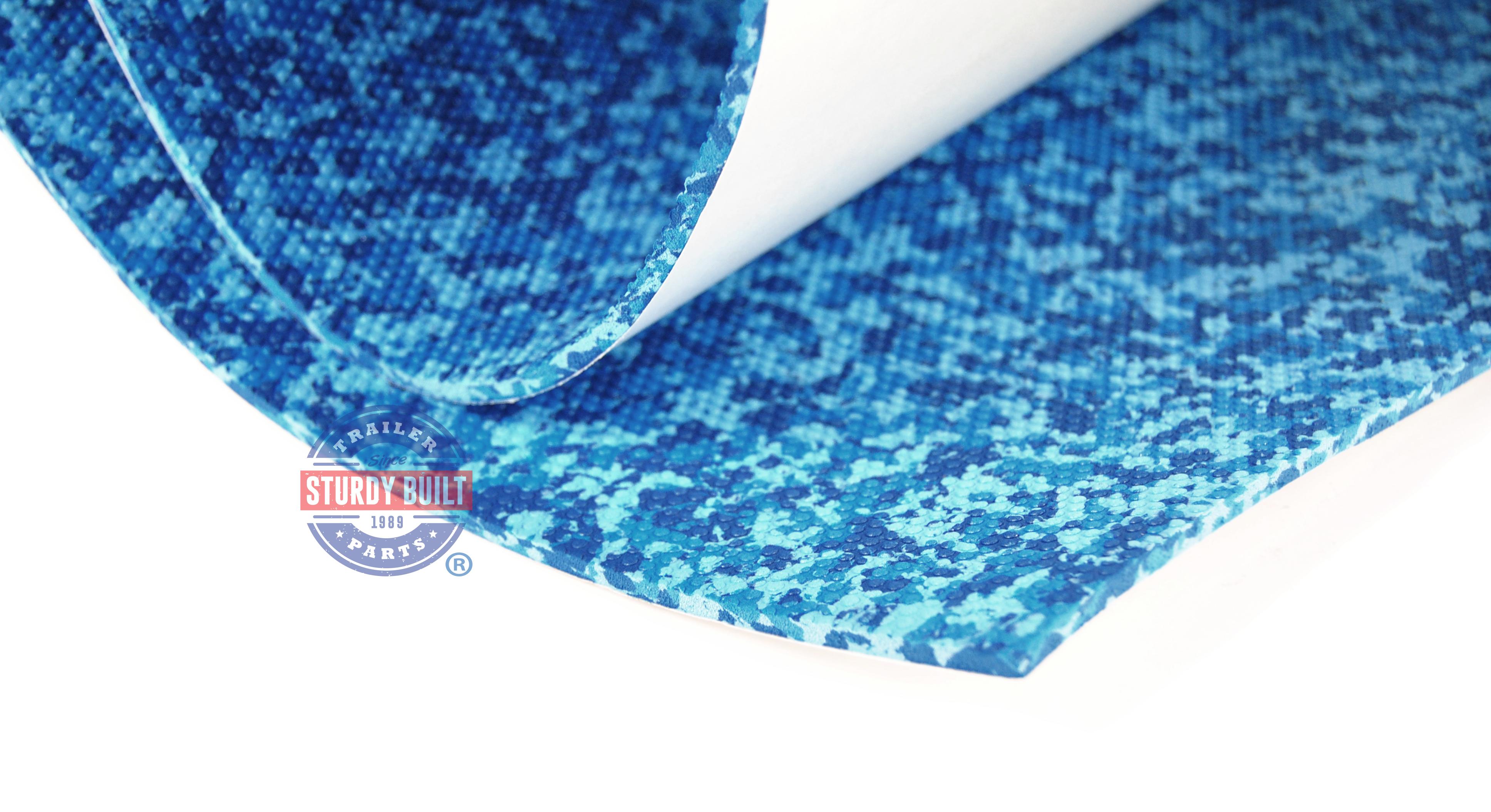 seadek marine sheet material      aqua camo boat mat  skid