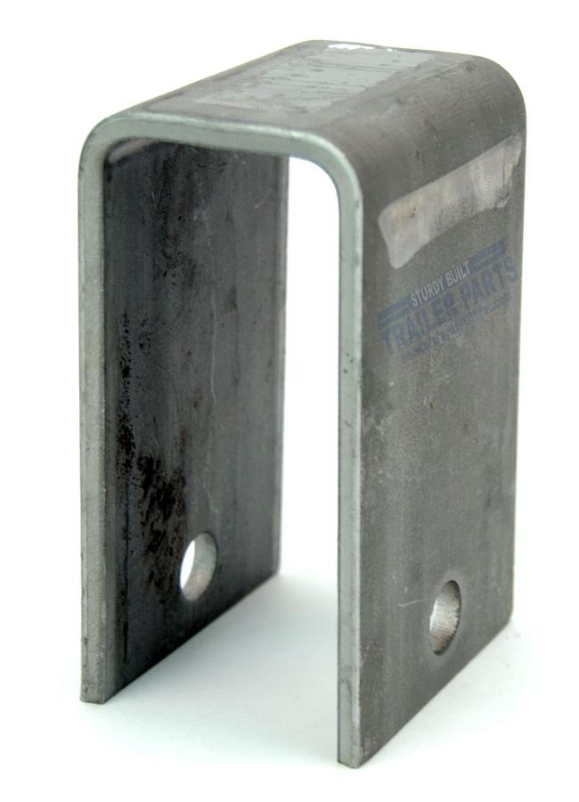 Utility trailer weld on center spring hanger long