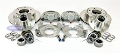 Kodiak Trailer Slip-on 6 Lug Disc Brake Kit ALL STAINLESS w/ SS Hubs