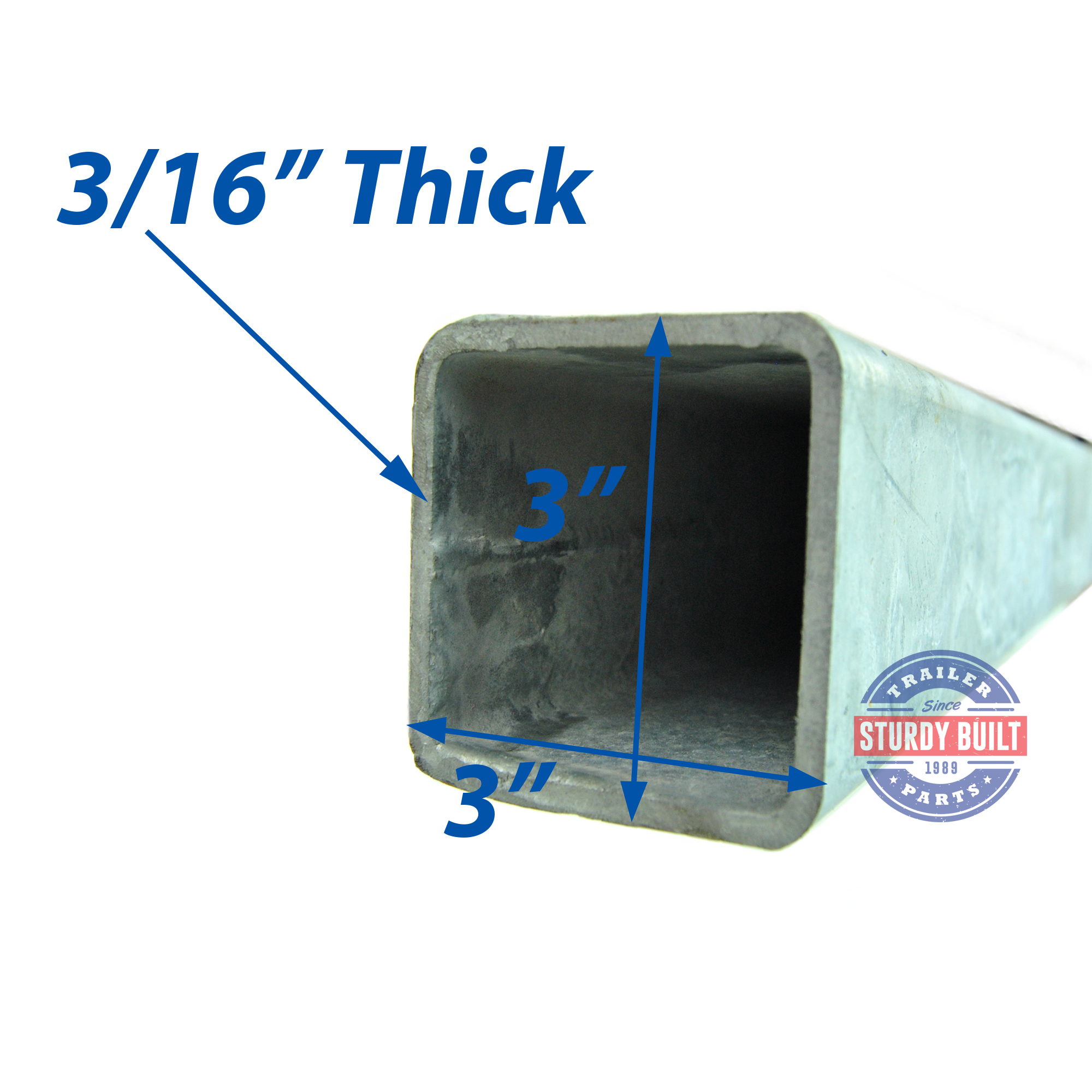 Trailer Wheel Chocks >> Galvanized Boat Trailer Tongue 8 ft Long 3 x 3 Tubing 3/16 ...