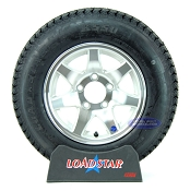 ST175/80D13 Boat Trailer Tire Mounted on a 7 Spoke Aluminum Wheel