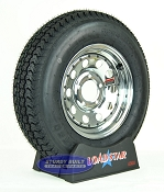 ST175/80D13 Boat Trailer Tire on a Chrome 5 Lug Wheel B78-13