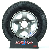 5.30 x 12 Trailer Tire Mounted on Aluminum 5 Star Wheel 5 Bolt 5.30-12