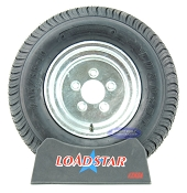 20.5x8x10 aka 205/65-10 LRC Trailer Tire on Galvanized 5 Bolt Wheel