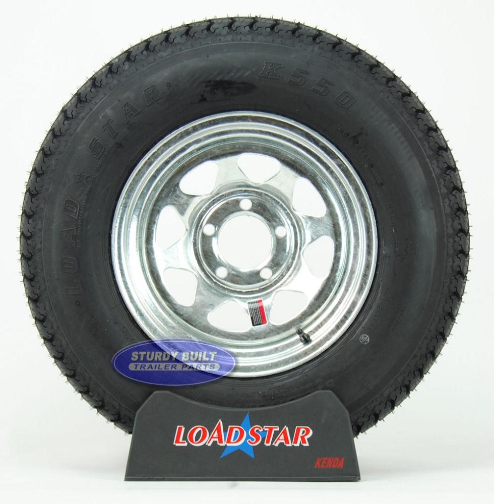 std boat trailer tire mounted   galvanized  bolt wheel