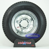 ST225/75D15 Boat Trailer Tire mounted on a Galvanized 6 bolt Wheel