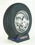 ST205/75D15 Trailer Tire F78-15 on a Chrome Mod 5 bolt Wheel