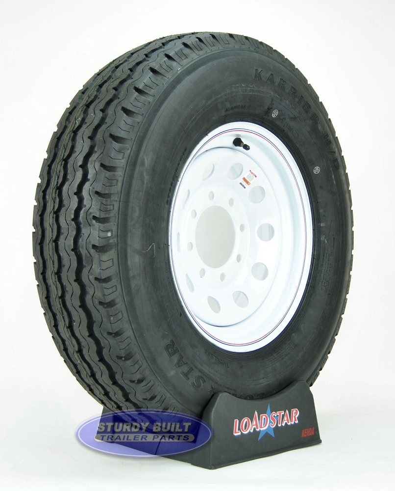 235 85r16 Trailer Tires >> Lt235 85r16 Trailer Tire Mounted On A 8 Bolt White Spoke Painted