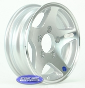 12 inch 5 Star Aluminum Trailer Wheel 5 Lug