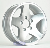 15 inch 5 Bolt 5 on 4 1/2 Aluminum 5 Star Spoke Trailer Wheel