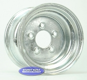 10 inch Galvanized 5 Bolt Trailer Wheel 5 on 4 1/2 Bolt Circle
