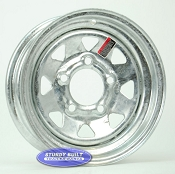 12 inch 5 Bolt Galvanized Spoke Trailer Wheel 5 on 4 1/2 Lug Pattern