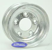 8 inch Galvanized 5 Bolt Trailer Wheel with 5 on 4 1/2 Lug Pattern