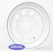 15 inch 5 Bolt White Modular Trailer Wheel 5 on 4 1/2 Lug Pattern