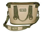 YETI Hopper 20 Quart Cooler Bag Tan and Orange Leak Proof