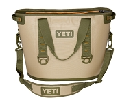 YETI Hopper 30 Quart Cooler Bag Tan and Orange LeakProof