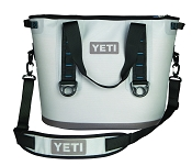 YETI Hopper 30 Quart Cooler Bag Gray and Blue LeakProof