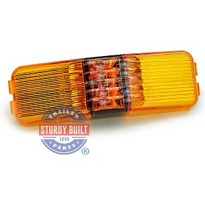 LED Sidemarker Trailer Light Amber Submersible 1 inch x 4 inch by TecNiq