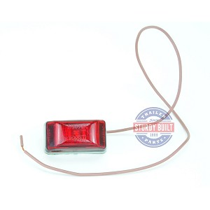Side Marker Light LED Red Submersible Single Stud