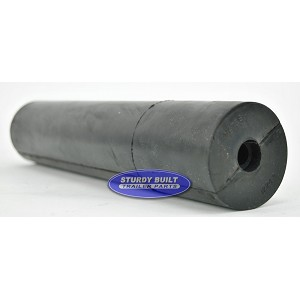 12 inch Black Rubber Straight Roller 5/8 inner diameter
