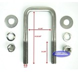 Stainless Steel Square Trailer U-Bolt 1/2 inch x 2 inch x 4 13/16 inch