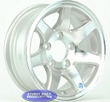 13 inch Aluminum 7 Spoke Utility or Boat Trailer Wheel 5 Bolt